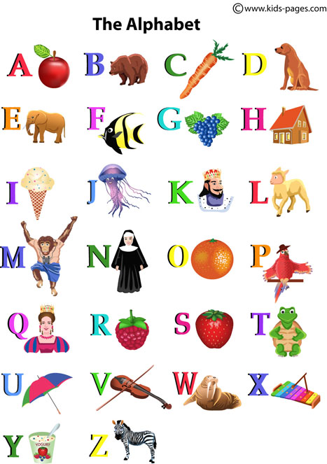 Terms Of Use >> The Alphabet flashcard