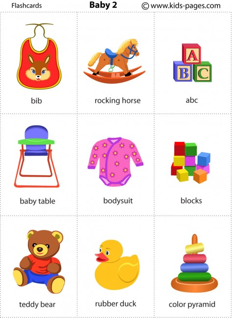 photograph relating to Printable Baby Flash Cards referred to as Little one 2 flashcard