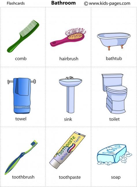 Bathroom flashcard for Clean the bathroom in spanish