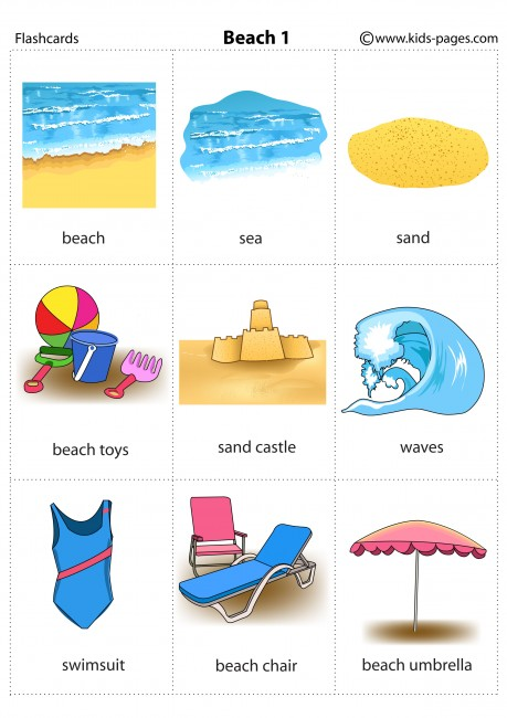 Beach 1 Flashcard