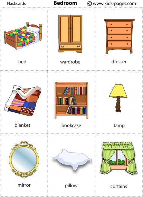 Bedroom Flashcard