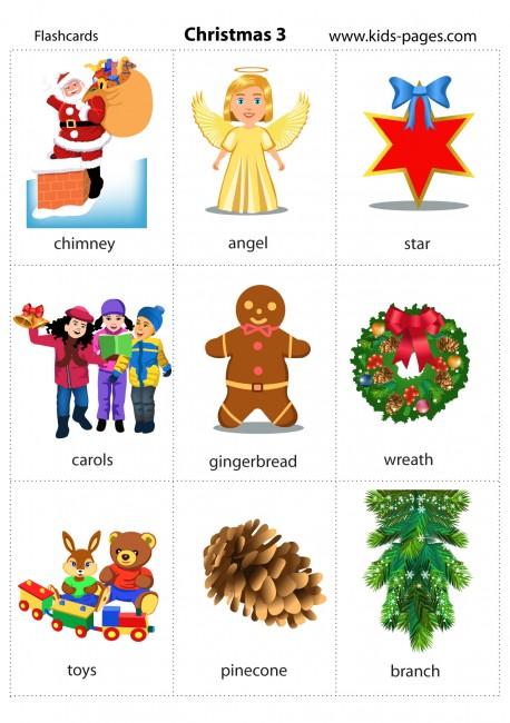 Christmas 3 flashcard