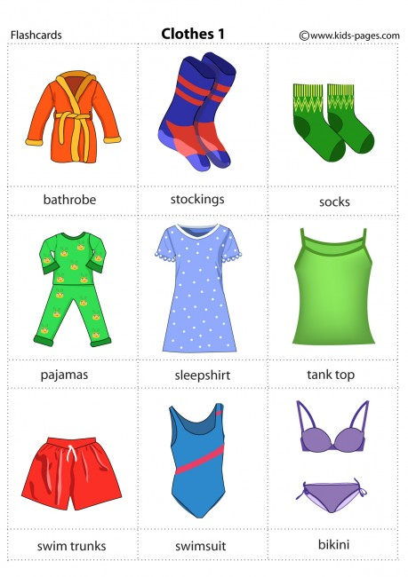 Clothes 1 flashcard