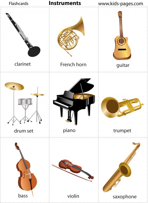 photo about Free Printable Music Flashcards named Applications flashcard