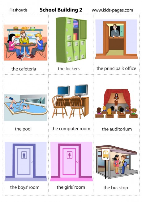 Flashcards Rooms Of A House Parts