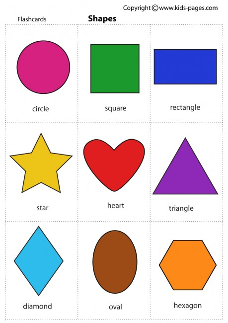 photo relating to Free Printable Shape Flashcards called Designs flashcard