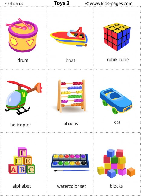 Toy Vocabulary Game : Toys flashcard