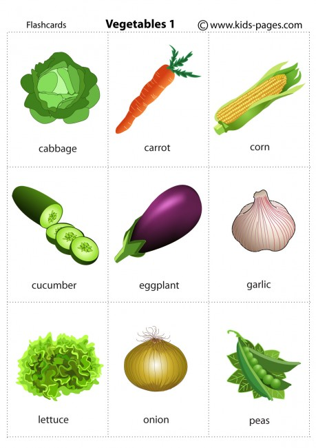 Vegetables 1 Flashcard