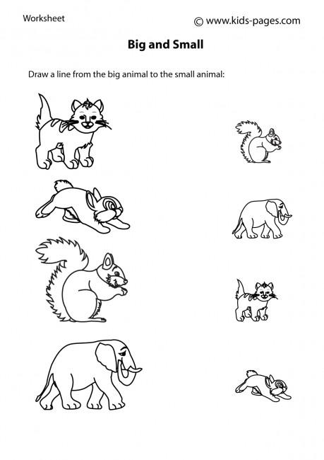 Big Small 8 worksheet