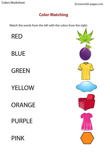 Matching Images >> Color Matching worksheet