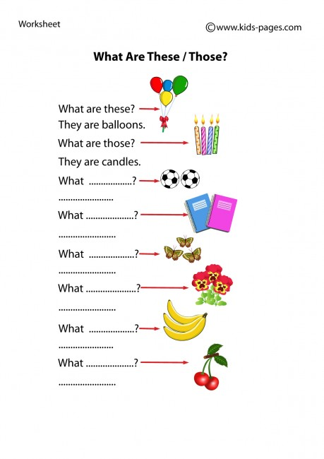Demonstrative Pronouns: What are these / those? worksheet