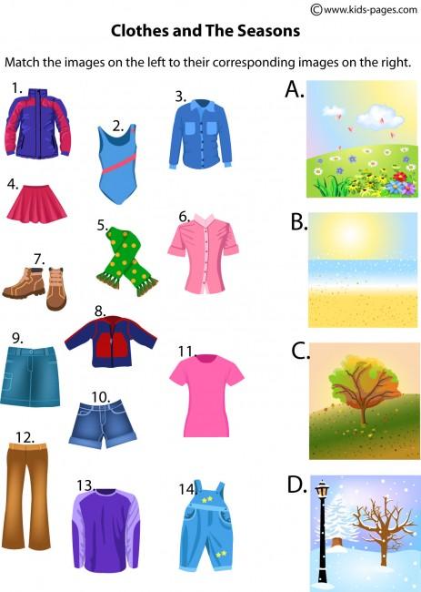 La Escuela de Ingles de Eva: Clothes and seasons